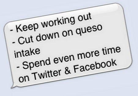 Will you resolutions make the city's cut? Text to find out.