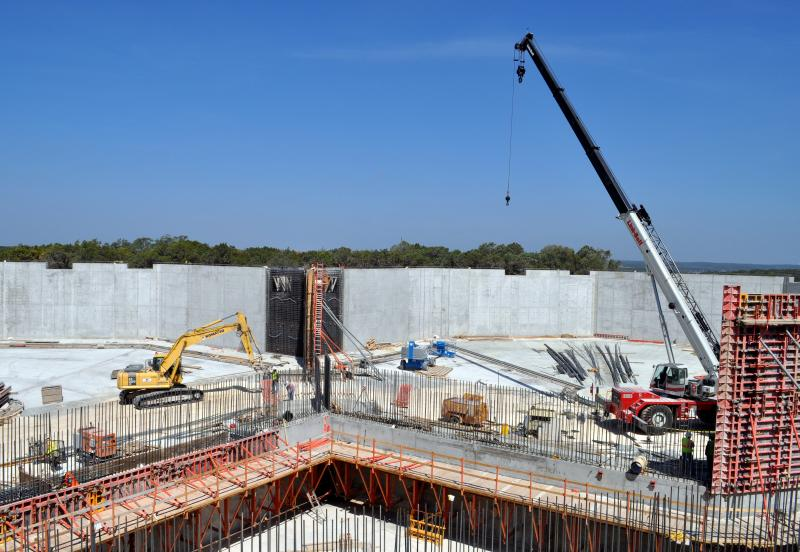 Under-construction WTP4, as photographed last year.