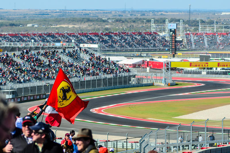 The grandstands at this November's F1 race, held at the Circuit of the Americas.
