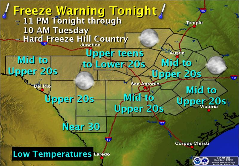 The first big freeze of the season is expected tonight.