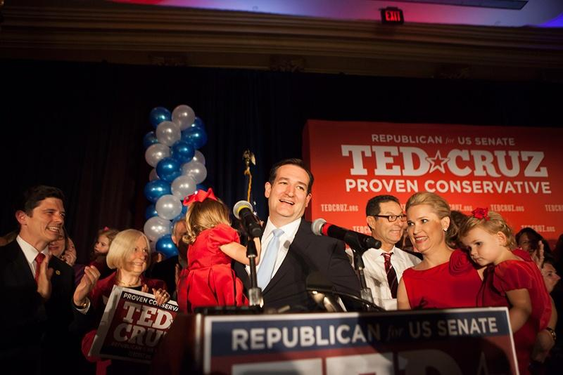 Texas' new senator Ted Cruz will be sworn-in today.