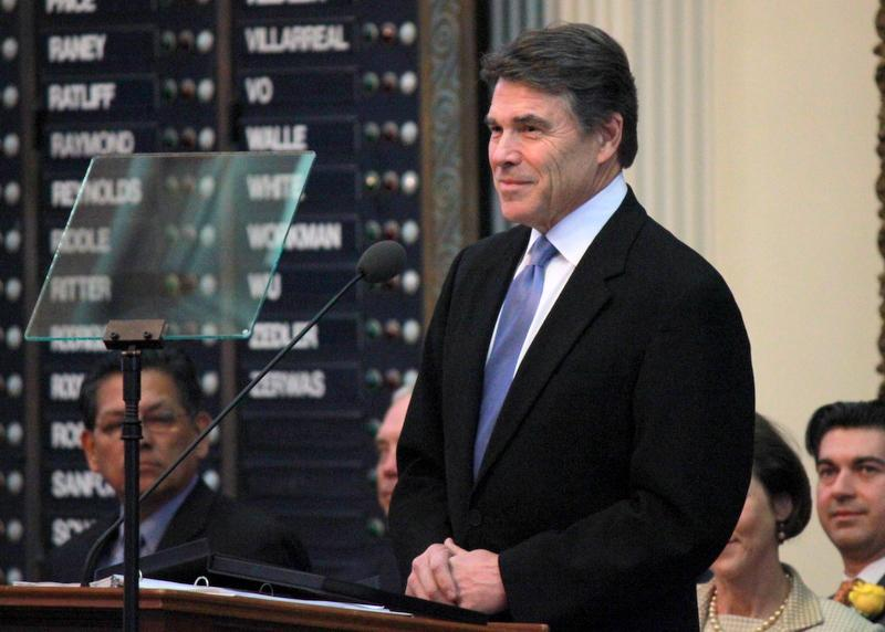 Gov. Perry speaking to Texas House in January