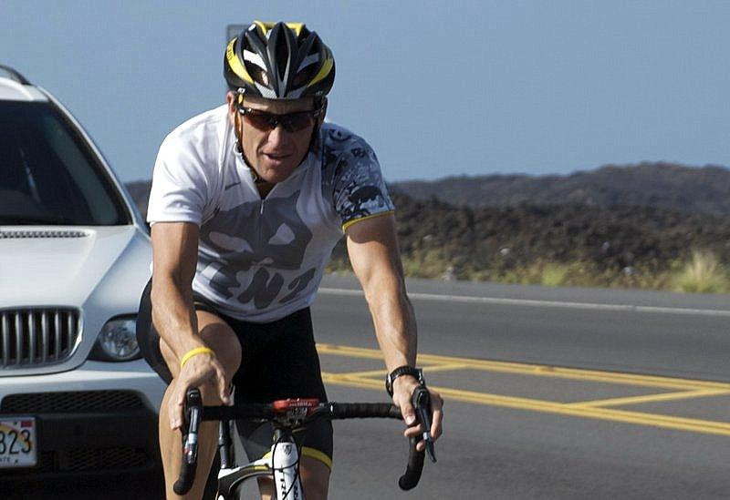 Lance Armstrong biking in Hawaii. A confession may clear the way for Armstrong's return to professional sports.