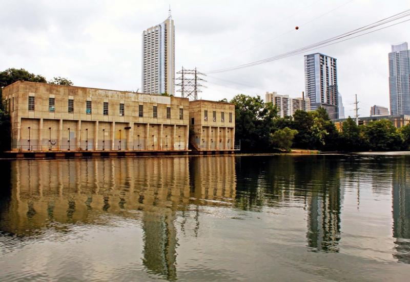 The Seaholm Intake Facility sits right on Lady Bird Lake.