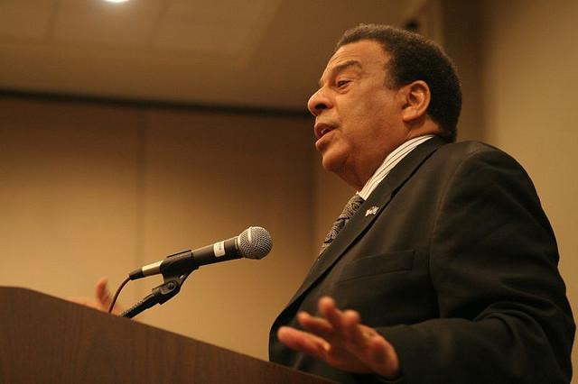 Former congressman, Atlanta mayor and ambassador Andrew Young will speak tonight at the LBJ library.