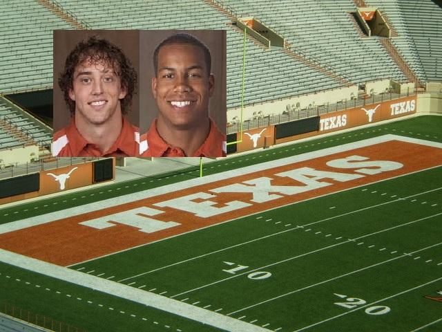 Case McCoy (left) and Jordan Hicks have been reinstated to the Longhorns football team.