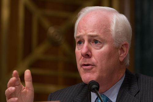 U.S. Sen. John Cornyn says the FAA is playing politics with flight delays.