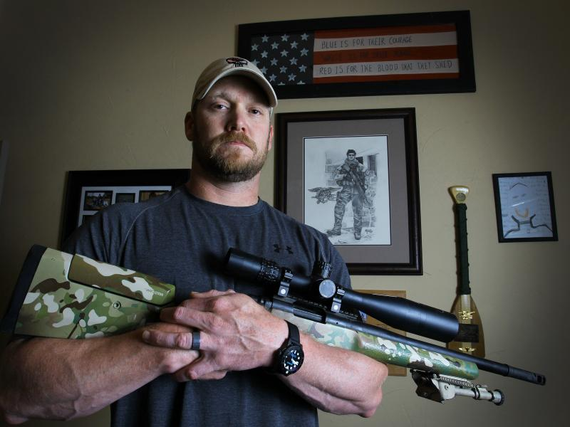 "Chris Kyle, retired Navy SEAL and bestselling author of the book ""American Sniper: The Autobiography of the Most Lethal Sniper in U.S. Military History,"" in April 2012."