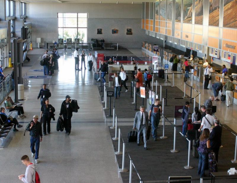 The ticketing area at Austin-Bergstrom International Airport. Virgin Airlines has announced it will open shop at ABIA.