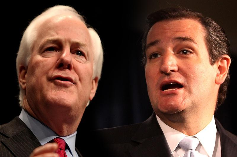 SInce the arrival  of Sen. Ted Cruz, Sen. John Cornyn seems to be shifting discernibly right.