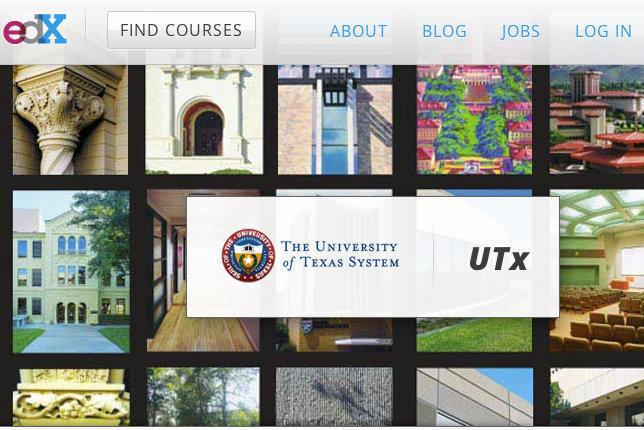 The UTx page onthe EdX website. UT will announce start dates for its online courses this summer.