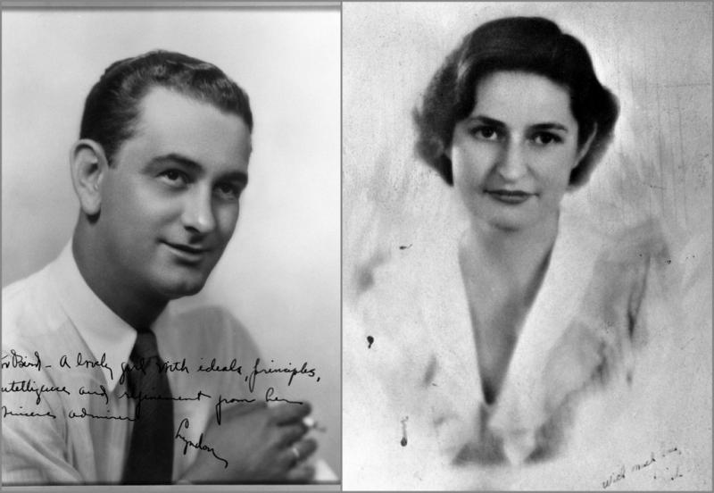 A young Lyndon Johnson and Claudia Taylor. The LBJ Museum is releasiing LBJ's love letters courting his future wife.