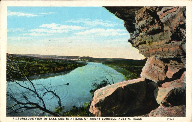 A 1917 postcard depicting Mount Bonnell.