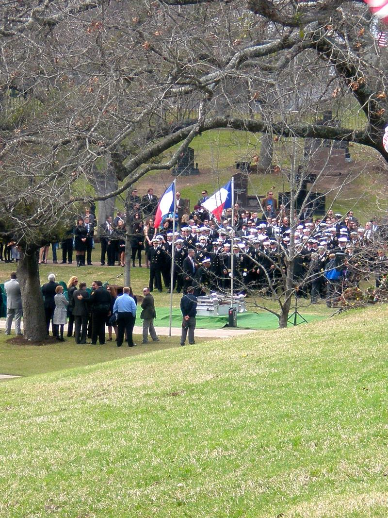 Ex-Navy SEAL Chris Kyle's funeral service at the Texas State Cemetery in Austin