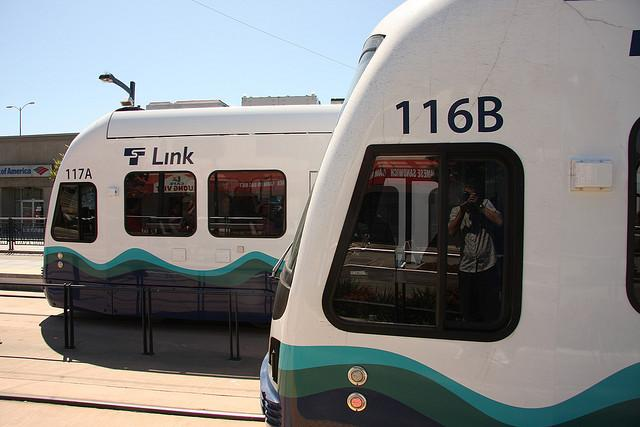Light rail in Seattle. Experts from around the country have advice on Austin's urban rail push.