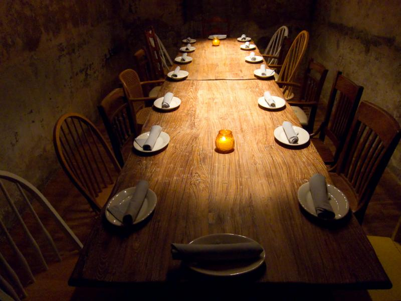 A private table in the vault under La Condesa, one of several restaurants whose chefs were named James Beard semi-finalists