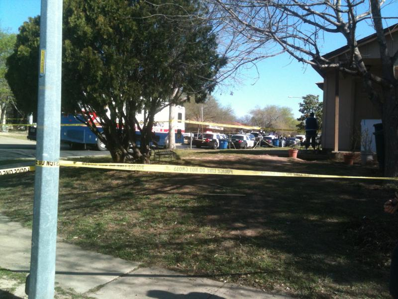 APD says there's been an officer involved shooting in the 10000 block of Lanshire Drive.