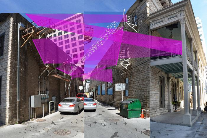 "An art installation called ""20ft Wide"" is planned for an alley on Ninth Street between Congress and Brazos Streeets."