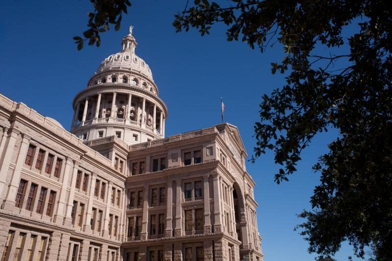 Texas Capitol, the site of separate rallies Tuesday pertaining to same-sex marriage rights