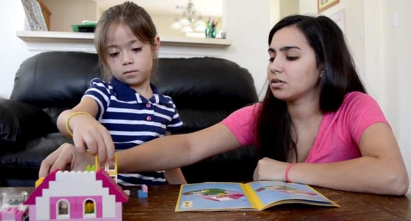 Alexandria Garza plays with her 6-year-old daughter Lasselia