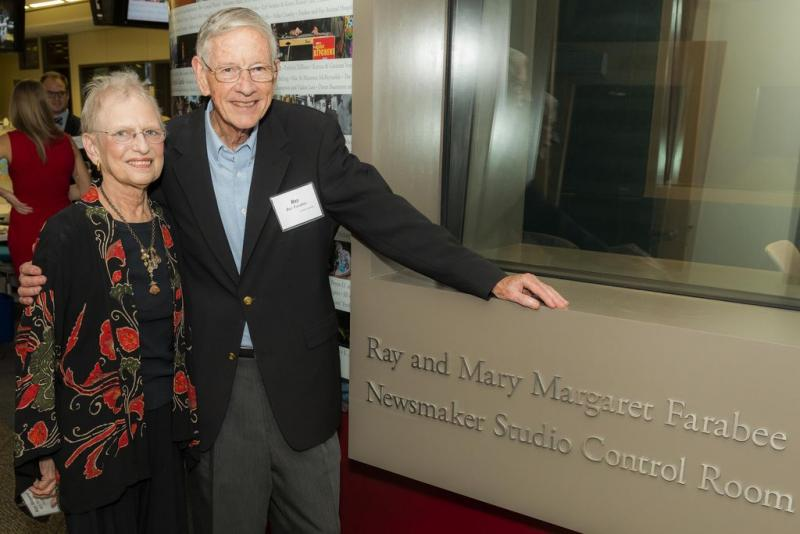 Mrs. Mary Margaret and former State Senator Ray Farabee at the KUT Public Media Studios Grand Opening in November