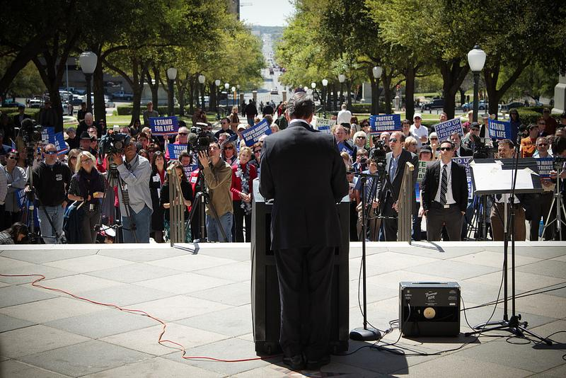 Gov. Perry at Faith and Family Day at the state Capitol