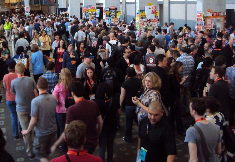 That's a lot of cell phones: The scene at the Austin Convention Center last South by Southwest.