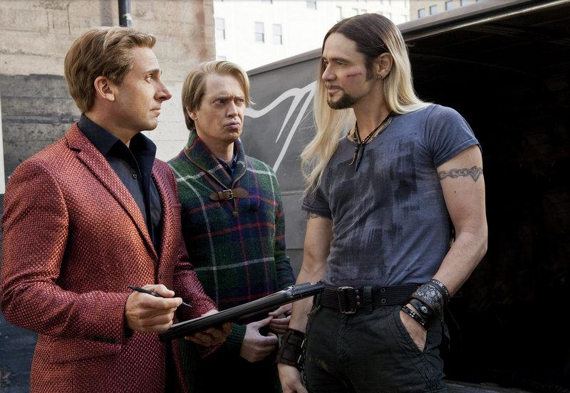 "A still from ""The Incredible Burt Wonderstone,"" featuring Steve Carell, Steve Buscemi and Jim Carrey."