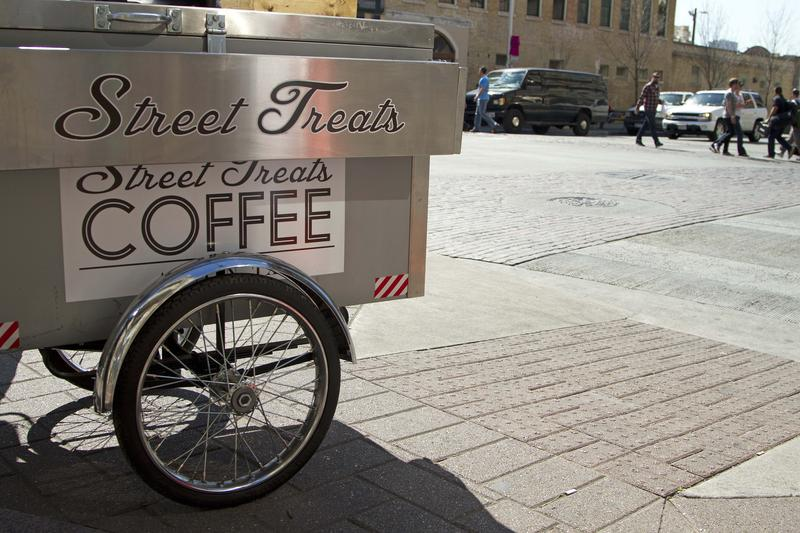 Coffee and snack wagons are giving some homeless people in Austin a source of income.