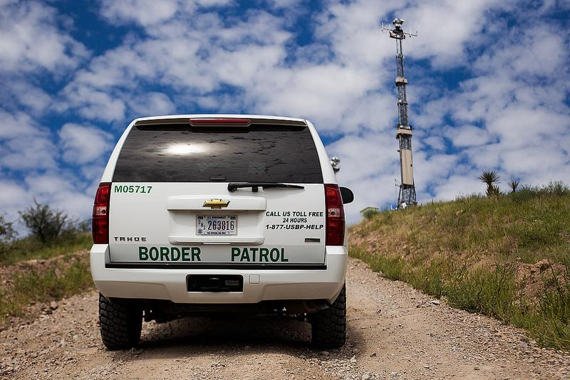 A Border Patrol truck in Nogales, AZ. There appears to be an upswing of undocumented immigrants voluntarily surrendering to authorities.