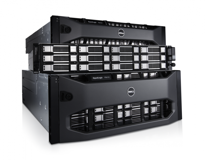 One of Dell's data storage systems, the EqualLogic Storage Systems