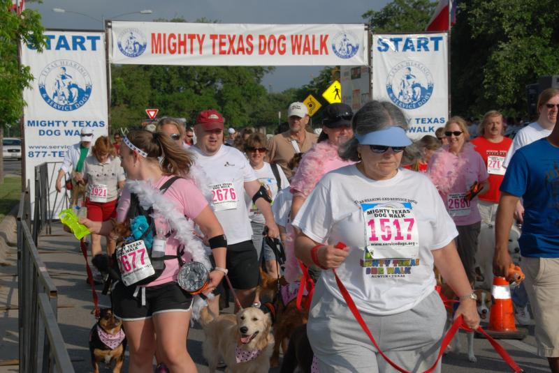 The Mighty Texas Dog Walk is one event that might get a fee waiver this Thursday.