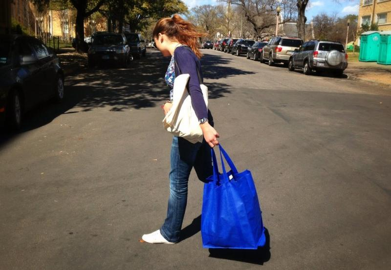 Austin is getting used to toting around reusable bags