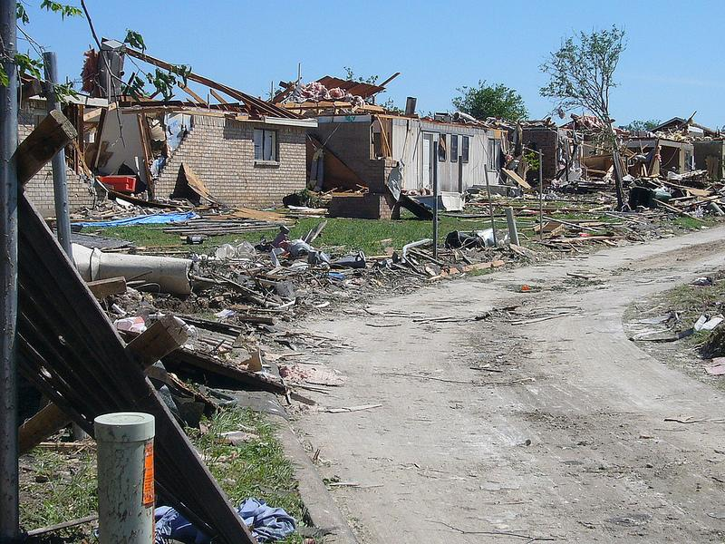 Tornado damage outside Dallas in April 2012