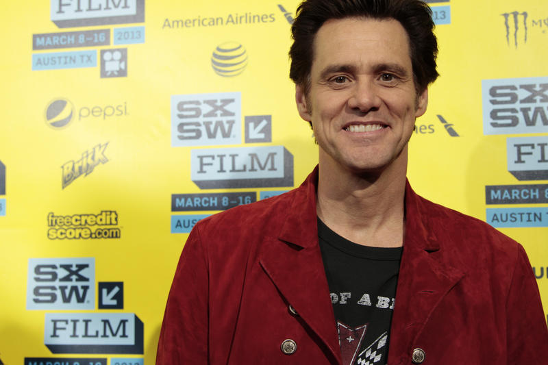 Jim Carrey, one of the stars of The Incredible Burt Wonderstone, which had its premiere at the Paramount Theater Friday as part of the South by Southwest Film Festival.