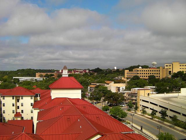 The Texas State University campus in San Marcos, Texas.