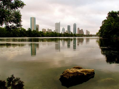 Downtown Austin, seen from Lou Neff Point in Zilker Park