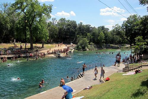 Austin's urban oasis, Barton Springs Pool