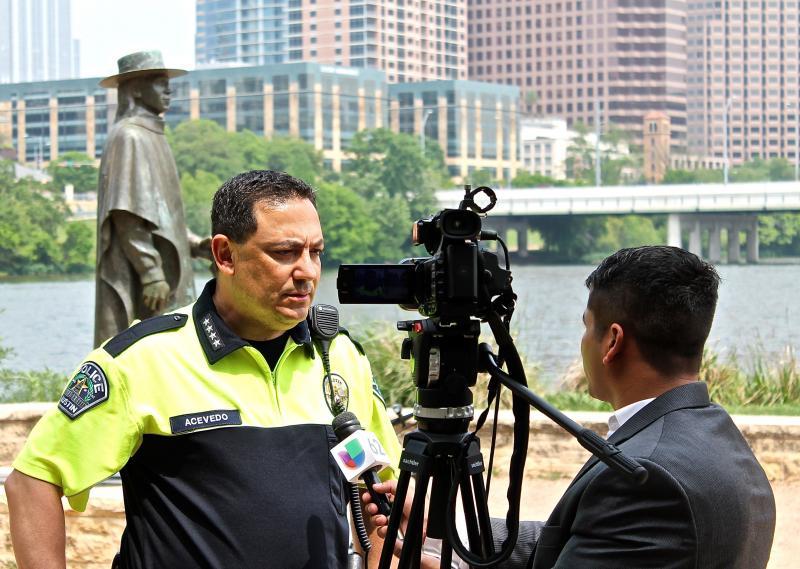 "Police Chief Art Acevedo advises Austinites to stay ""vigilant"" in light of the attacks in Boston."