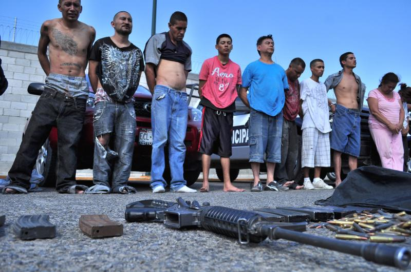 Gang members arrested in Juarez - part of the complicated web of drug cartels,  gangs, and law enforcement that has left a bustling and dynamic city vulnerable and paranoid.
