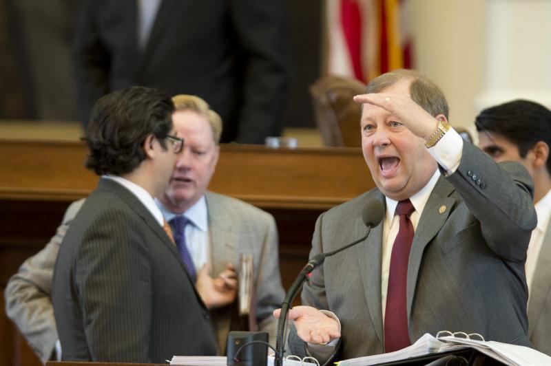 State Rep. John Otto, R-Dayton, explains an education funding amendment to SB 1 the budget bill during debate on April 4, 2013.