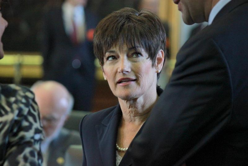 Sen. Donna Campbell (R-New Braunfels) on the floor of the Senate in 2013