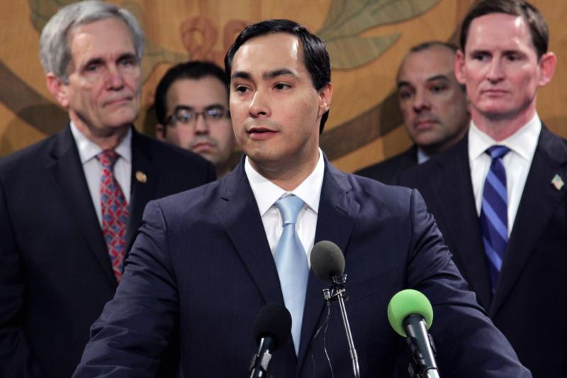 U.S. Rep. Joaquin Castro spoke during a press conference to express support for Medicaid expansion in Texas.