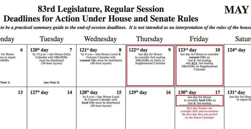 Deadlines start soon in the legislature