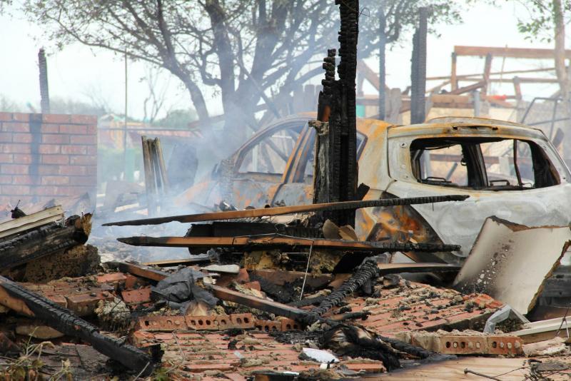 Destruction in West after the April 17 explosion.