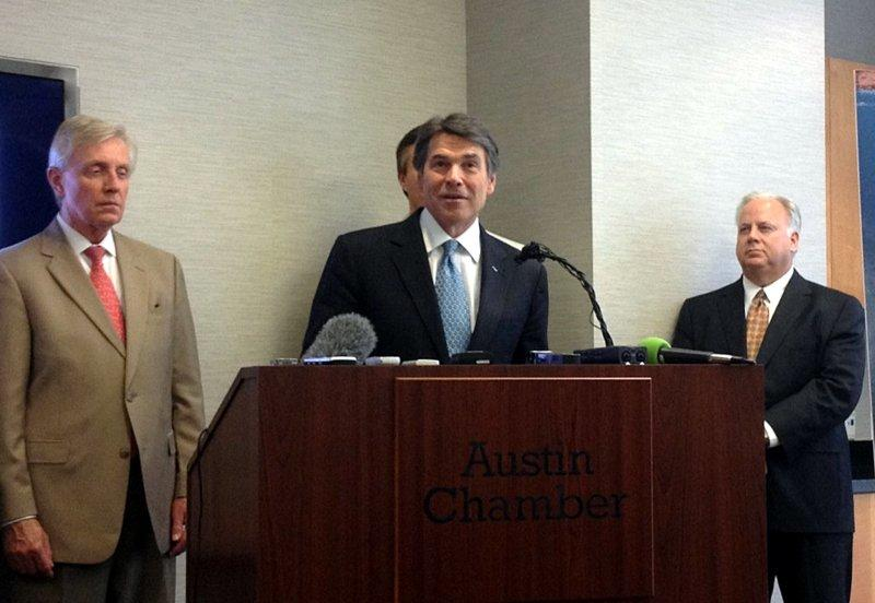 Rick Perry called for new tax cuts targeted at businesses today.