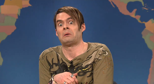 Bill Hader's SNL fan favorite Stefan made a guest appearance Wednesday night at the Paramount, to dish on Austin's hottest new clubs.