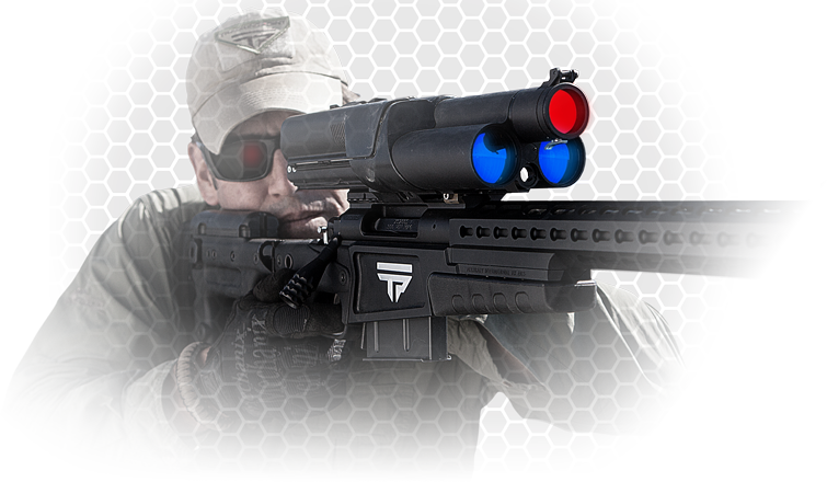 Digital optics and tracking technologies enhance this long range rifle.