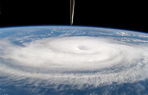 Hurricane Gordon in 2006 as see from Space Shuttle Atlantis