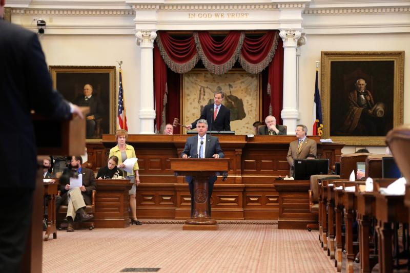 State Rep. Allen Fletcher, R-Cypress, answers questions from fellow Texas House lawmakers on May 4, 2013.
